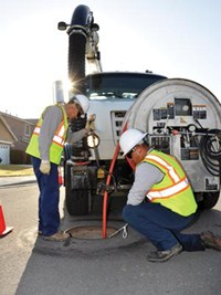 Combination Sewer Cleaner Crew