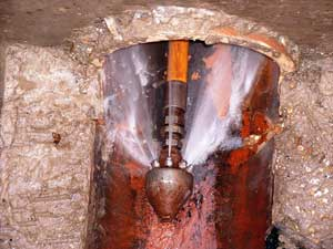 Sewer Nozzle with forward thrust