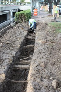 Daylighting to Espose Underground Utilities