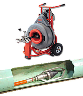 Removing Roots in Sewer Lines with Rodder