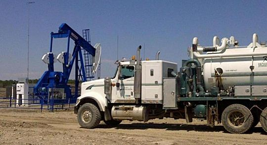 Vacuum Truck in the Oilfield