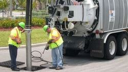 Sewer Cleaning With A Vac Truck